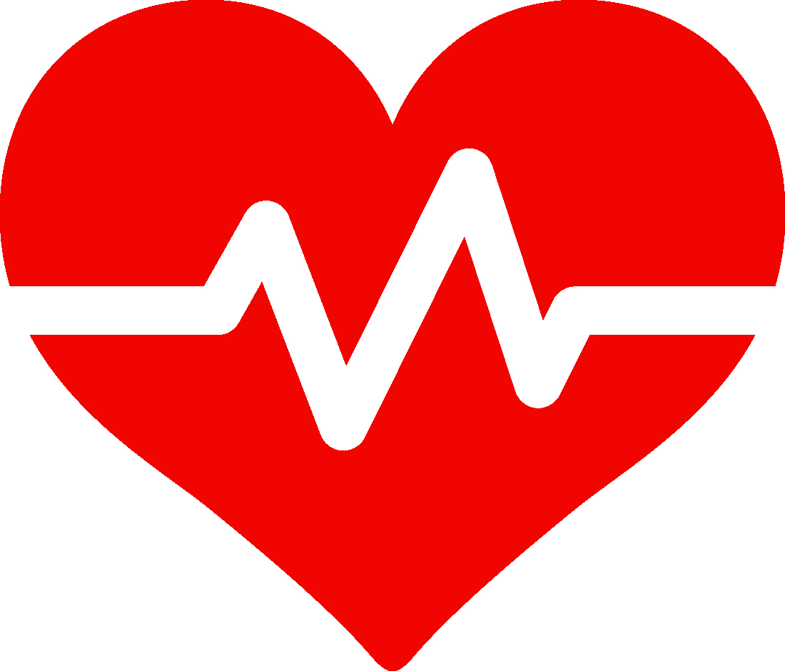 Health Services logo heart RED with white background